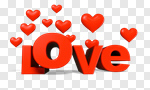 Сlipart Valentine's Day Heart Shape Love Three-dimensional Shape Single Word 3d cut out BillionPhotos