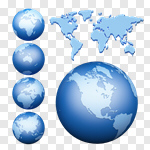 Сlipart Globe Earth World Map Map Planet 3d cut out BillionPhotos