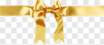 Сlipart Ribbon Gold Bow Gift Christmas photo cut out BillionPhotos