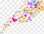 Сlipart Butterfly Spring Summer Backgrounds Colors vector cut out BillionPhotos