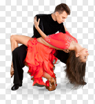 Сlipart Salsa Dancing Dancing Couple Latin American and Hispanic Ethnicity Romance photo cut out BillionPhotos