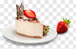 Сlipart Cake Strawberry Portion Plate Food photo cut out BillionPhotos