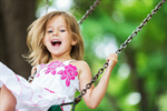 Сlipart Child Playing Playground Little Girls Swing photo  BillionPhotos