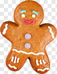 Сlipart Christmas Cookie Food Gingerbread Man Candy photo cut out BillionPhotos