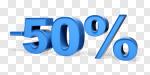 Сlipart Sale 50% Number 50 Percentage Sign % 3d cut out BillionPhotos