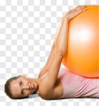 Сlipart Exercising Pilates Women Fitness Ball Yoga photo cut out BillionPhotos