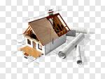 Сlipart House Blueprint Built Structure Plan Architecture 3d cut out BillionPhotos