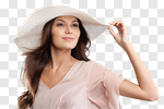Сlipart woman fashion model hat young photo cut out BillionPhotos