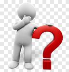 Сlipart Question Mark Three-dimensional Shape Men People Thinking 3d cut out BillionPhotos