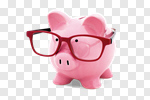 Сlipart Piggy Bank Glasses Intelligence Eyesight Business photo cut out BillionPhotos