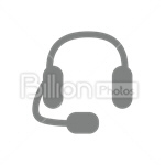 Сlipart Headphones Sound Audio Equipment Headset vector icon cut out BillionPhotos