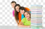 Сlipart school group pile teen 14-15 photo cut out BillionPhotos