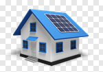Сlipart House Environment Residential Structure Solar Power Station Construction 3d cut out BillionPhotos