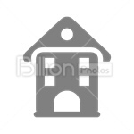 Сlipart House Residential Structure Real Estate Isolated Built Structure vector icon cut out BillionPhotos
