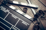 Сlipart film cinema clapper board reel photo  BillionPhotos