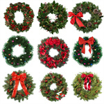 Сlipart Wreath Christmas Holly Holiday Christmas Decoration   BillionPhotos