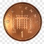 Сlipart One Pence Coin Penny Coin UK British Culture 3d cut out BillionPhotos