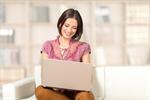 Сlipart laptop woman home portrait young   BillionPhotos