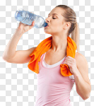 Сlipart water drink woman sweating sport photo cut out BillionPhotos