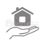 Сlipart Offer Selling For Sale House Human Hand vector icon cut out BillionPhotos