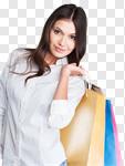 Сlipart shopping retail bags girls latin photo cut out BillionPhotos