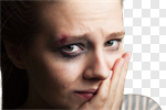 Сlipart woman scared girl sorrow pain photo cut out BillionPhotos