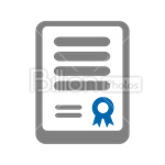 Сlipart Honor Charter Prize Paper Certificate vector icon cut out BillionPhotos