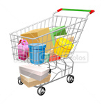Сlipart Shopping Cart Shopping Buying goods vector icon cut out BillionPhotos