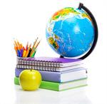 Сlipart school back book globe background photo  BillionPhotos