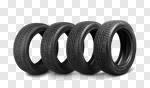 Сlipart Tire Rubber Three Objects Black Studio Shot photo cut out BillionPhotos