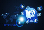 Сlipart network concept social networking globalization vector  BillionPhotos