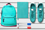 Сlipart School supplies backpack top school view   BillionPhotos