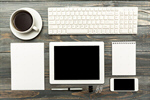 Сlipart mockup tablet ipad ipade desk photo  BillionPhotos