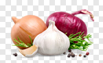 Сlipart garlic mix raw onion isolated photo cut out BillionPhotos