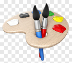 Сlipart Paintbrush Palette Art Paint Painting 3d cut out BillionPhotos