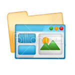 Сlipart Application Software Web Page Interface Icon Folder vector icon cut out BillionPhotos