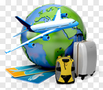 Сlipart Travel Airplane Journey Vacations Globe 3d cut out BillionPhotos