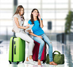Сlipart Airport Travel Luggage Women Suitcase   BillionPhotos