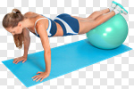 Сlipart Exercising Fitness Ball Relaxation Exercise Women Back photo cut out BillionPhotos