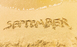 Сlipart Inscription on wet sand September beach autumn waves fall coastal   BillionPhotos