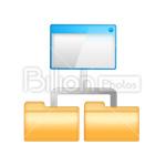 Сlipart Folders Folders Hierarchy Hierarchy Root Folder Child folders vector icon cut out BillionPhotos