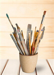 Сlipart paint brush artistic artist watercolor closeup   BillionPhotos