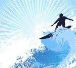 Сlipart Surfing Surf Wave Beach Sun vector  BillionPhotos