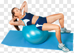 Сlipart Exercising Women Gym Relaxation Exercise Fitness Ball photo cut out BillionPhotos