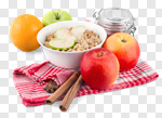 Сlipart Oatmeal Breakfast Healthy Eating Cholesterol Apple photo cut out BillionPhotos