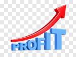 Сlipart Making Money Growth Graph Green Three-dimensional Shape 3d cut out BillionPhotos