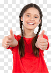 Сlipart Child Cheerful Smiling Childhood Thumbs Up photo cut out BillionPhotos