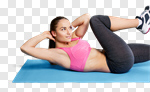 Сlipart woman crunches sport aerobic slim photo cut out BillionPhotos