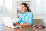 Сlipart woman laptop swivel chair shirt attractive photo  BillionPhotos