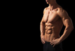 Сlipart abs weights training man isolated photo  BillionPhotos